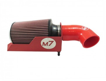 MAXX Flo Low Restriction Intake Kit with RED Housing, pleated filter and silicone elbow