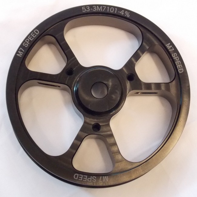 Kavs Lightweight Supercharger Pulley: M7 4% Crank Pulley