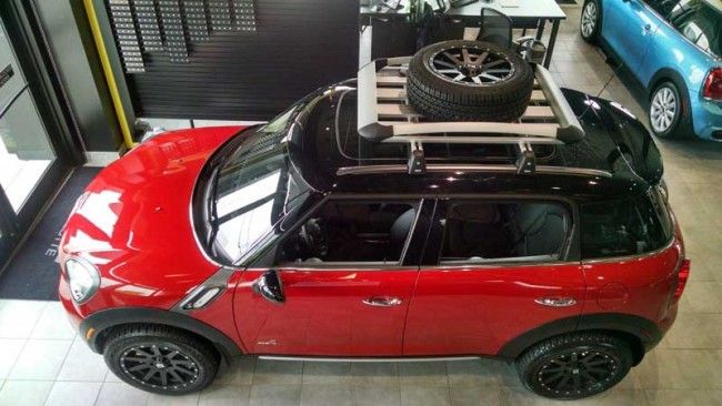Mini Cooper Spare Tire >> M7 Speed Universal Tire Carrier Roof Basket Model M7speed Com