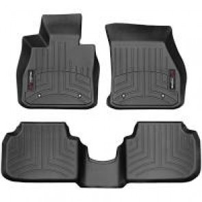 Gen 3 F54 WeatherTech Front and Rear Floor Liners - Black