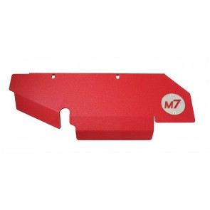 M7 Turbo Heat Shield Top Side, Wrinkle Red