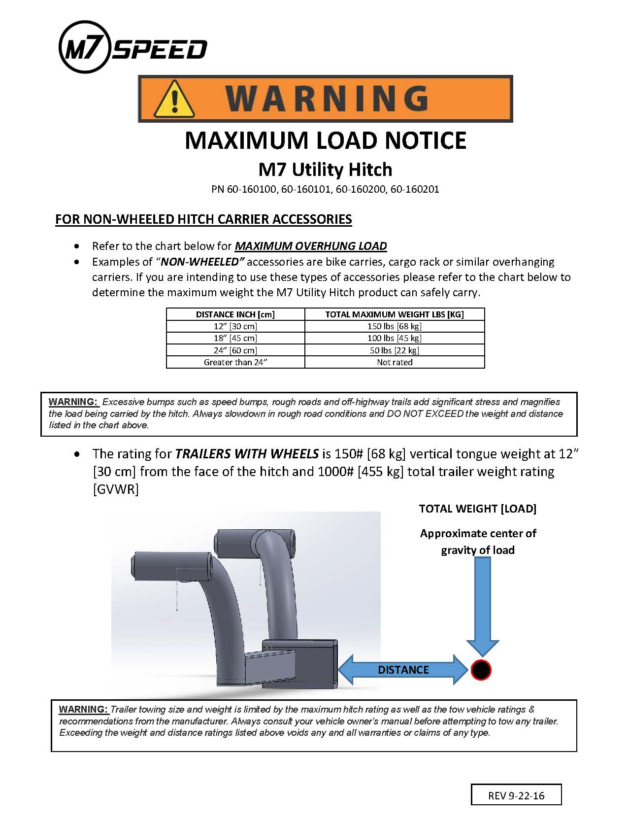 Load Notice Sheet 60-160200
