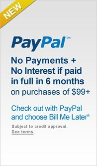 Check out with PayPal and choose Bill Me Later.